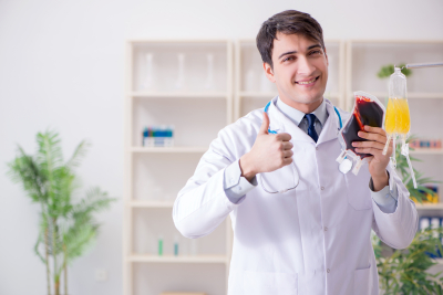 doctor thumbs up and smiling