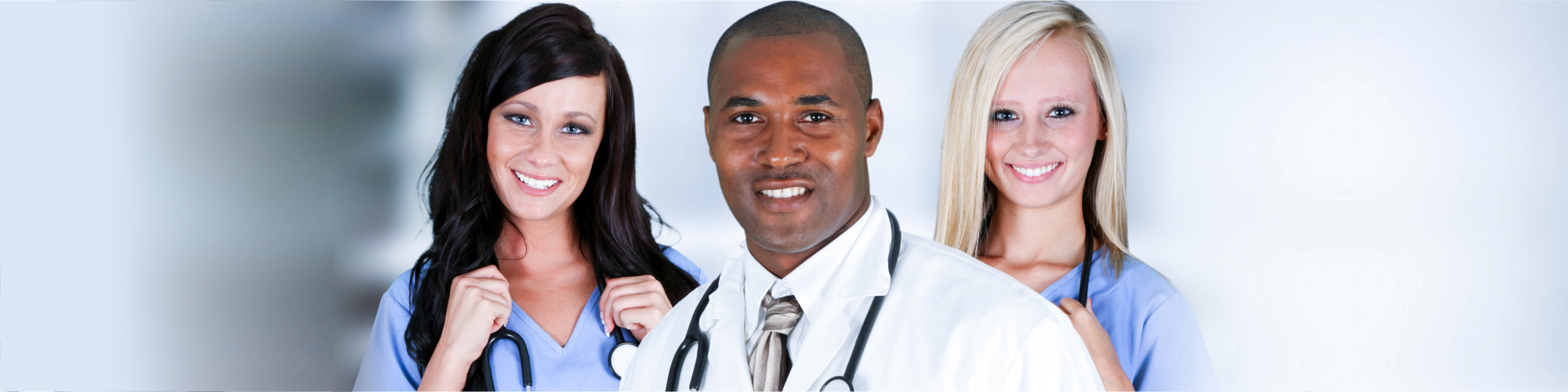 doctor and female nurse smiling